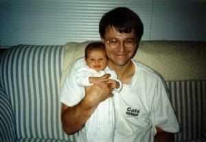 Daddy w/ baby Abby