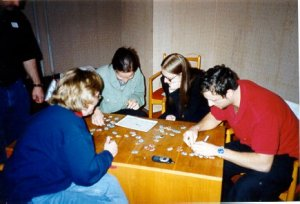 The winning puzzle team
