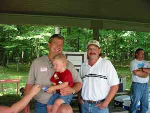 Steve (and Steve's son), Glenn, and Mike