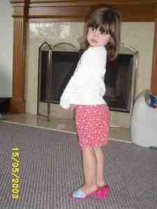 Abby in heels