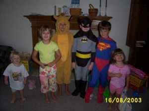 All the kids in costume