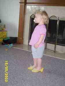 Rachel in heels