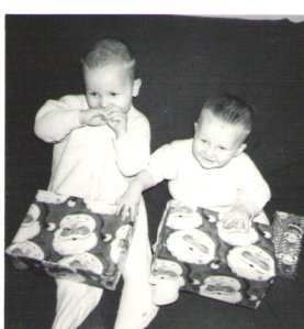 My brother and I - Christmas 1966