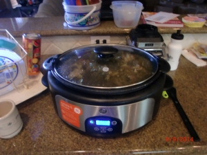 Our Carnita in the crockpot