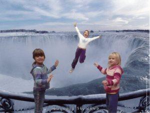 Abby, Kim & Rachel at the Falls