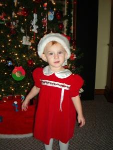 Sammy in Christmas Dress I