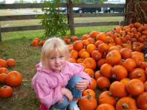 Rachel at the pumpkin patch