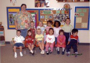 Rachel's Preschool class - 2004