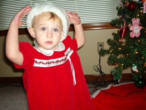 Sammy in Christmas Dress II