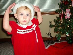 Sammy in Christmas Dress II