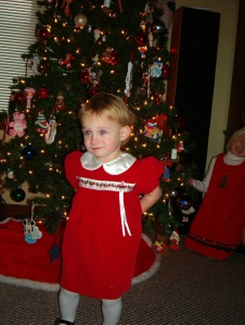 Sammy in Christmas Dress III